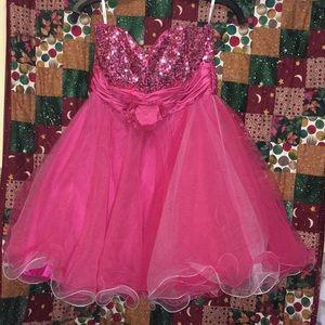 Adorable Pink Dress w/Sequins